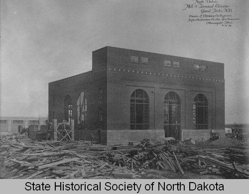 North Dakota State Mill And Elevator Under Construction Grand Forks
