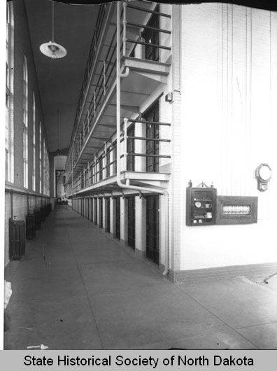 Interior Of Cell Block North Dakota State Penitentiary, Bismarck, N.D.