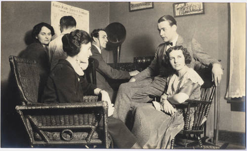G  Angus Fraser family listening to radio broadcast in their