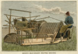 Wood's self-binder reaping machine
