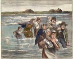 Families fleeing before the incoming floods on the river bottoms near Bismarck, March 18th