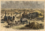 Dakota Territory, the great wheat fields in the Valley of the Red River of the North, threshing by steam