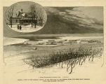 Dakota , view of Fort Abraham Lincoln on the west bank of the Missouri River, five miles below...