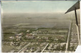 Colored aerial of North Dakota Agricultural College, Fargo, N.D.