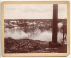 Looking South from mill, flood Spring of 1897, Moorhead, Minn.