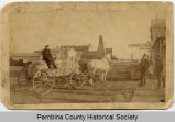 Jim Page hauling wheat to Hamilton, N.D.