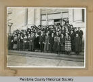 Teacher Institute on Pembina County Court House steps, Cavalier, N.D.