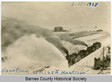 Snow plow coming into Hastings, N.D.