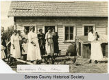 Homemakers class and chickens, Eckelson, N.D.