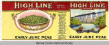 High Line Brand, Early June Peas label
