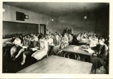 Dickinson State Normal School classroom with President May in back, Dickinson, N.D.