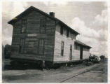 Transporting the Depot in Egeland, N.D.