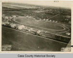 Aerial view of grandstand, Fargo, N.D.