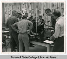 Students in engineering classroom in the Schafer building at Bismarck Junior College, Bismarck, N.D.