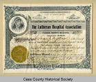 Lutheran Hospital Association shares certificate
