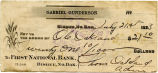 First National Bank of Bisbee check