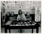 Student in biology lab, Bismarck Junior College, Bismarck, N.D.