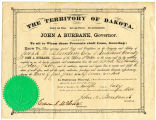 Document making Joseph Blanding the Notary Public in Richland County