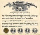 National Education Association Certificate for Bismarck Junior College