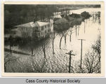 St. John's Hospital Fine Arts Club and other houses, Spring flood of 1943, Fargo, N.D.