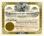 Richland County Fair Association Certificate