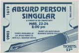 "Poster for theatrical production ""Absurd Person Singular"""