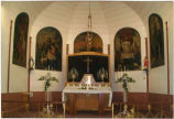 St. Anthony's Catholic Church interior, Bathgate, N.D.