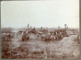 Threshing scene in Pembina County, N.D