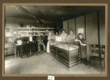 Interior of Brass Rail Restaurant, Page, N.D.