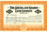 Amenia and Sharon Land Company Certificate