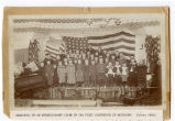 Methodist Sunday School program in the first court house in Washburn, N.D.