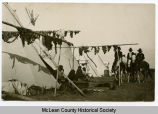 Native American camp, McLean County, N.D.