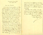 Letter to the Marquis de Mores from Count Langrand