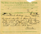 Direct United States Cable Company Telegram