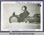 Tractor flipped over, McLean County, N.D.