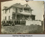 Wedding party at a house North of Manfred, N.D.