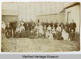 Group portrait of early settlers of Manfred, N.D.
