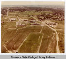 Aerial view of Bismarck Junior College campus, Bismarck, N.D.