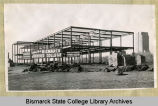 Construction of the general purpose building at Bismarck Junior College, North Dakota Capitol...