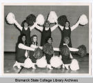 Cheerleaders at Bismarck Junior College, Bismarck N.D.