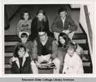 J. Michael McCormack with drama students at Bismarck Junior College, Bismarck, N.D.
