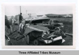 Car wreck, Fort Berthold Indian Reservation, N.D.