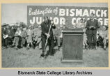 Groundbreaking at Bismarck Junior College building site on North Dakota Capitol grounds, Bismarck N.D.
