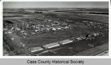 Aerial of 1964 National Plowing Contest, Wheatland, N.D.
