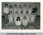 Women's volleyball team at Bismarck Junior College, Bismarck, N.D.