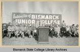 Governor Brunsdale speaks at groundbreaking for Bismarck Junior College campus on North Dakota Capitol