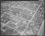 Aerial over north Fargo after 1957 tornado