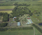 Aerial over Norman Lehmann farm, Section 12, Willow Creek Township, McHenry County, N.D.