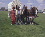 George and Phyllis Vangsnes dressed in costume, Bicentennial celebration, Rugby, N.D.