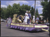 German's from Russia float, Bicentennial parade, Rugby, N.D.